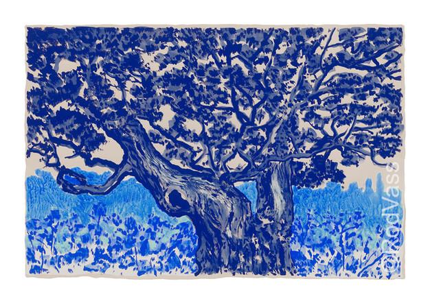 Split Oak in Blue - By Rod Vass