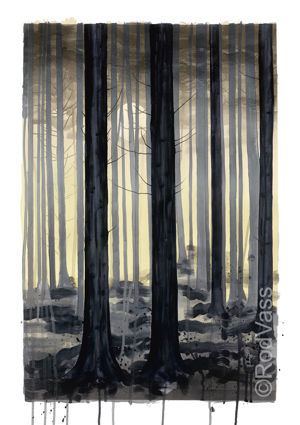 Grey Trees - right panel - By Rod Vass