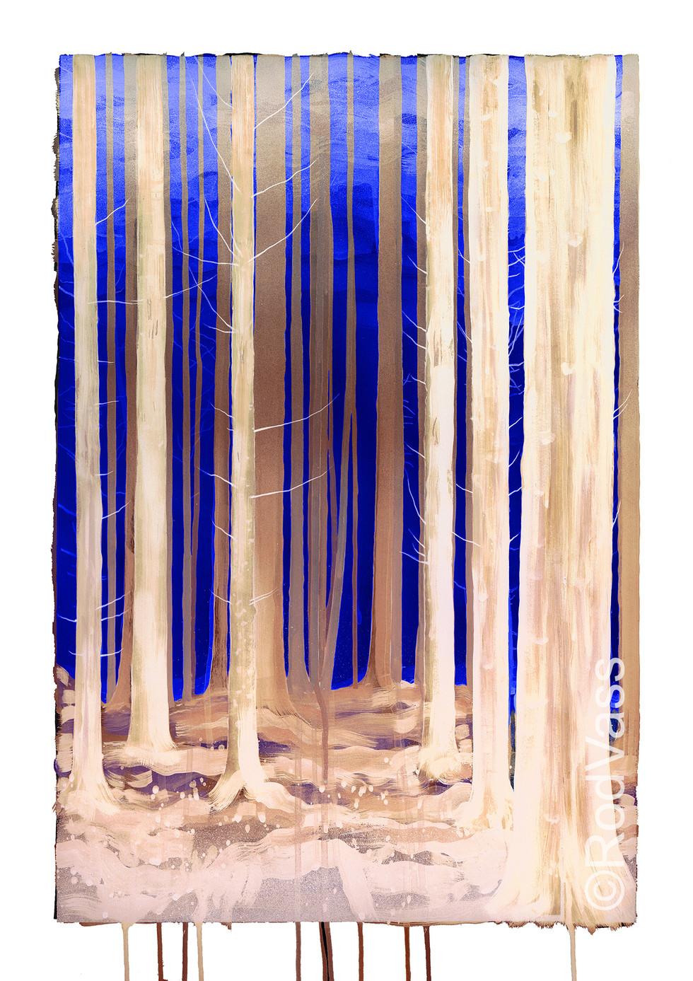 Sapphire Sky - left panel - By Rod Vass