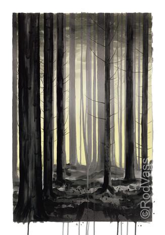 Grey Trees - left panel - By Rod Vass