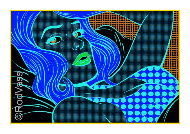 Blue Odalisque - By Rod Vass