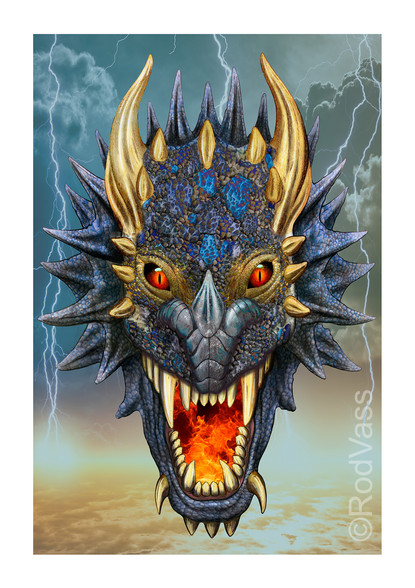 Blue Dragon - By Rod Vass