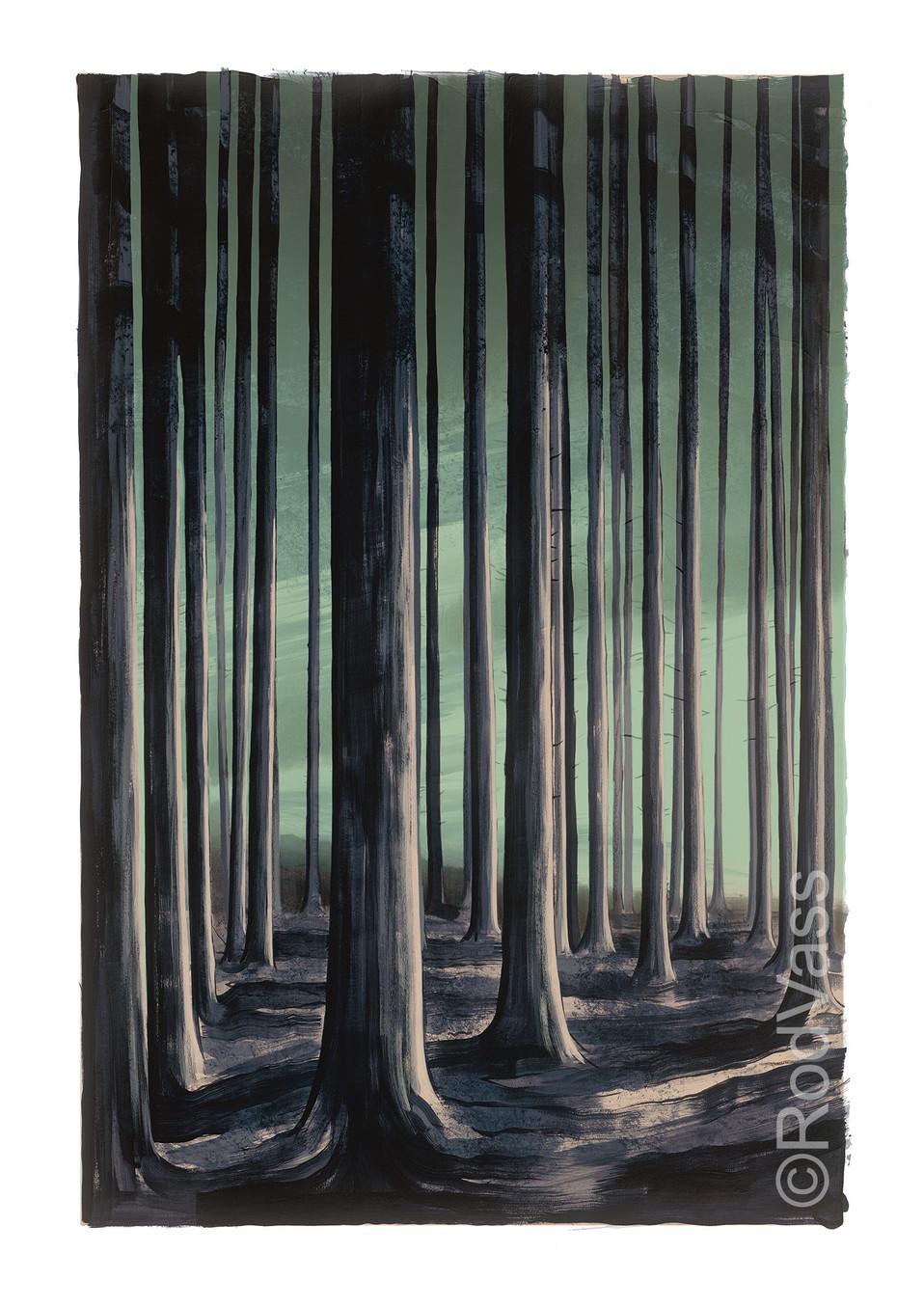 Woods Edge - left panel - By Rod Vass