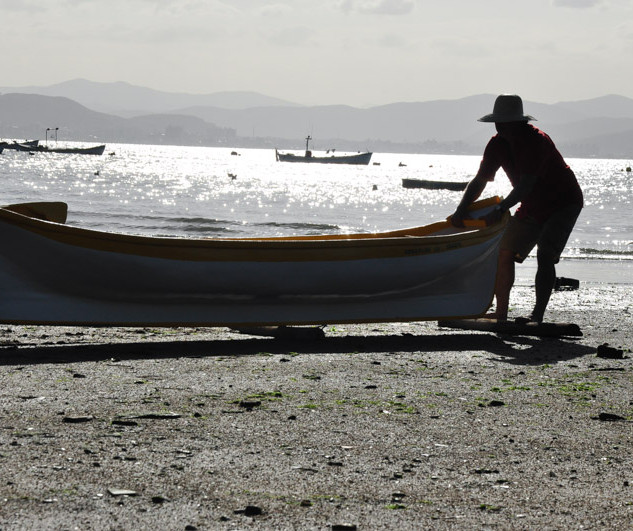 primeira ida ao mar da canoa