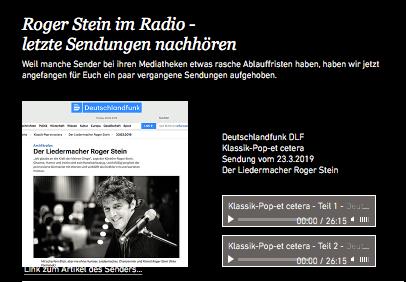 letzte Radiosendungen nachhören