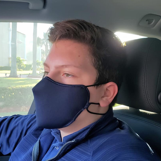 Matt Titan Mask blue