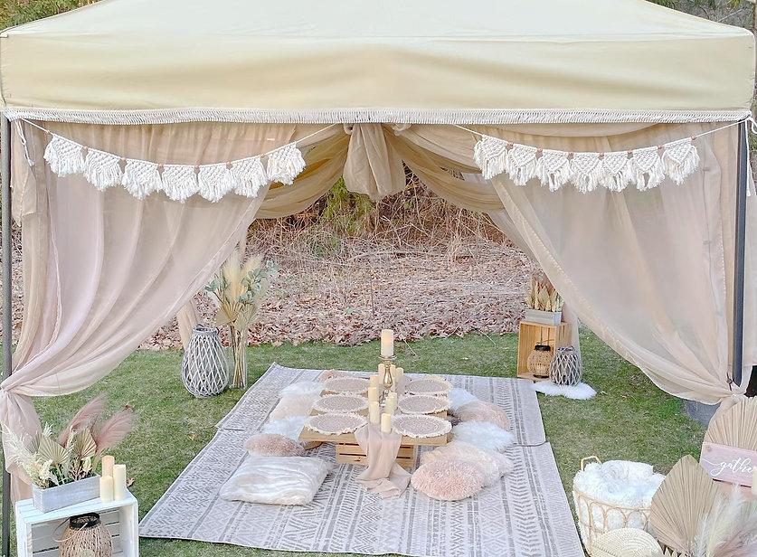 Boho Canopy Lounge