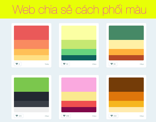 Color Hunt chia sẻ cách phối màu trong thiết kế