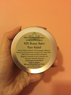 PRODUCT REVIEW: MJ Apotho's 420 Buzzy Balm Pain Relief in Calming Lavender Kush