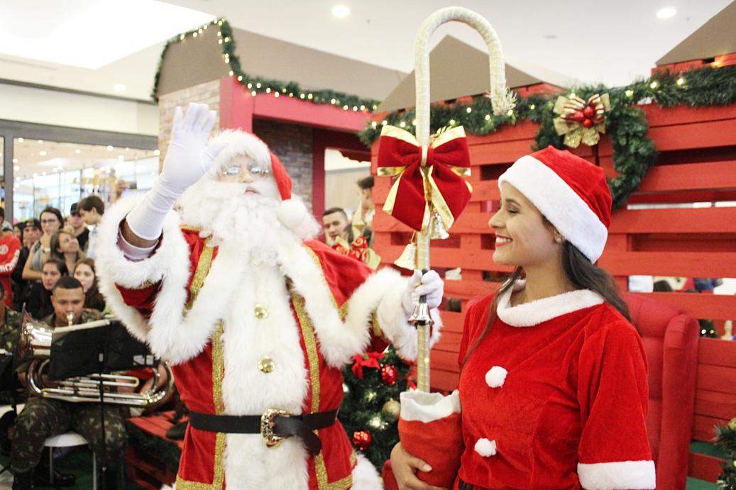 Papai Noel chega ao shopping de PA