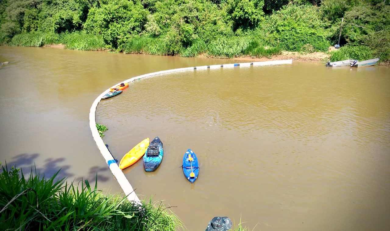 Ecobarreira no Rio Sapucaí