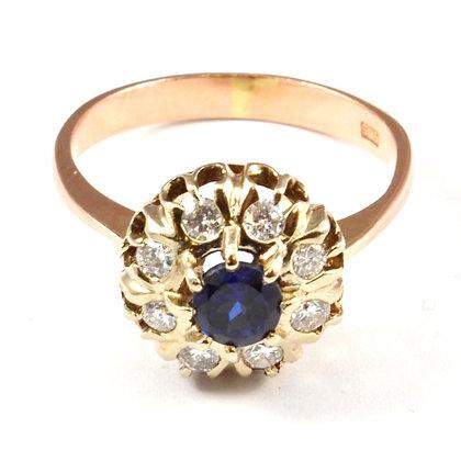 14ct Diamond Sapphire (0.40)
