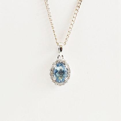 18ct Diamond Aquamarine (0.11)