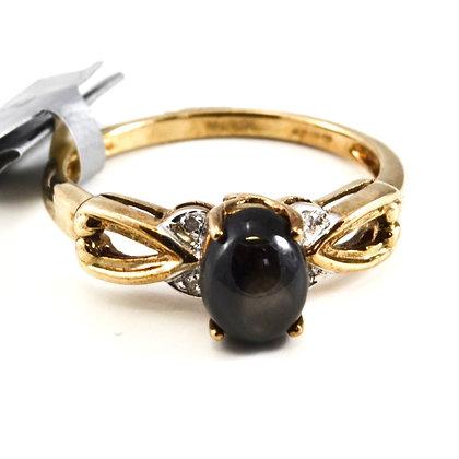 9ct Diamond Blackstar Sapphire
