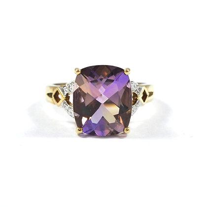 9ct Yellow Diamond (0.01) Amethyst & Quartz (5.0)