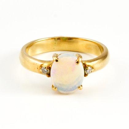 18ct Diamond Opal