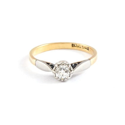 18ct Yellow Platinum Mounted Diamond (0.20)