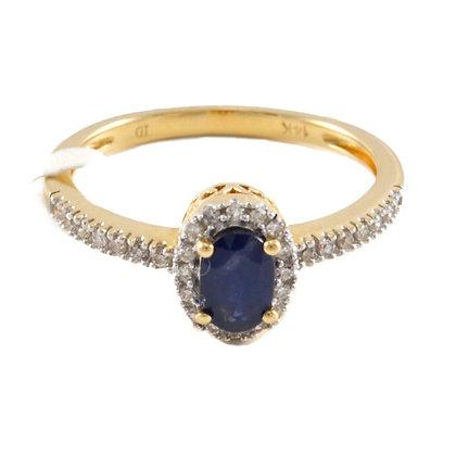 14ct Diamond & Sapphire