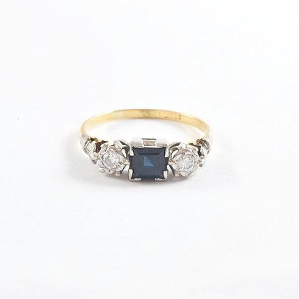 18ct Diamond and Sapphire