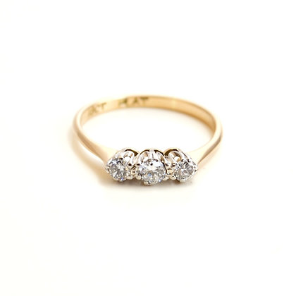 18ct Platinum Mounted Diamond