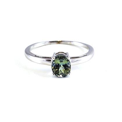 14ct Diamond Green Sapphire