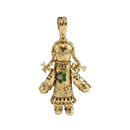 9ct Dolly Charm