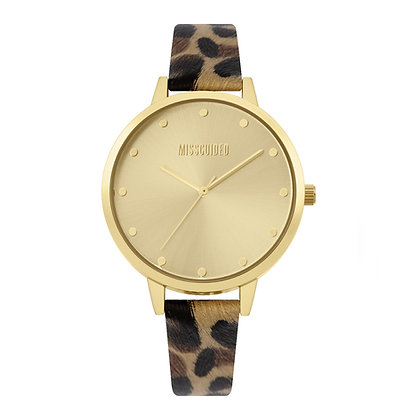 Missguided Gold Leopard
