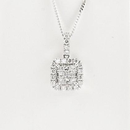 18ct Diamond Pendant 9ct chain