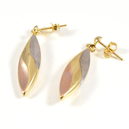 9ct Two-tone Drops