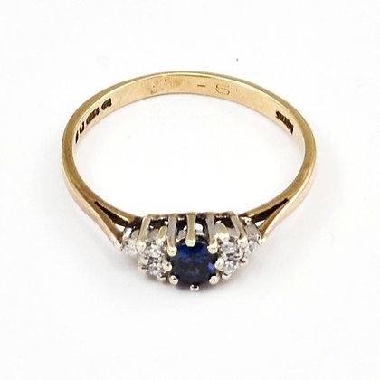 9ct Diamond Sapphire (0.20)