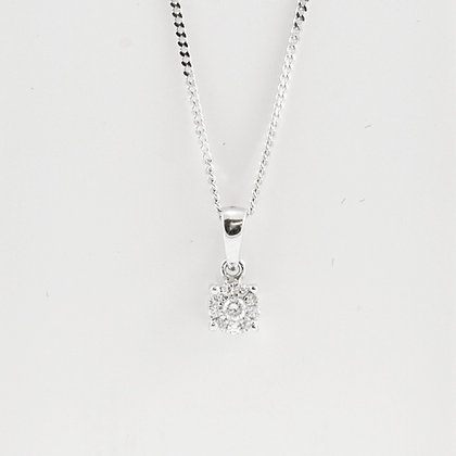 18ct Dia Pendant/9ct Chain