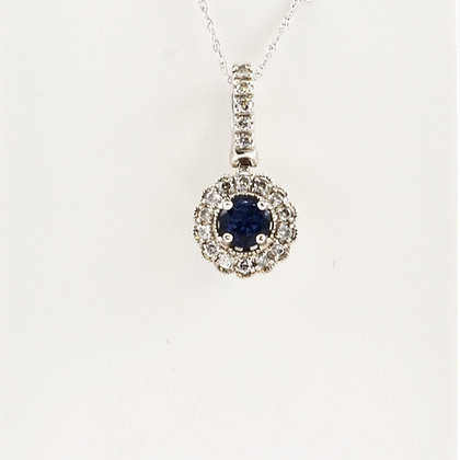 10ct Diamond Sapphire Pendant