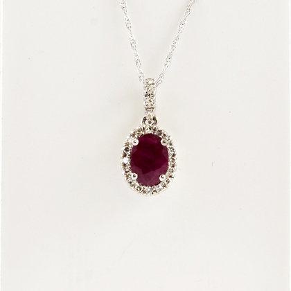 9ct Diamond Sapphire Pendant