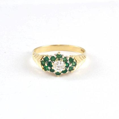 9ct Emerald CZ