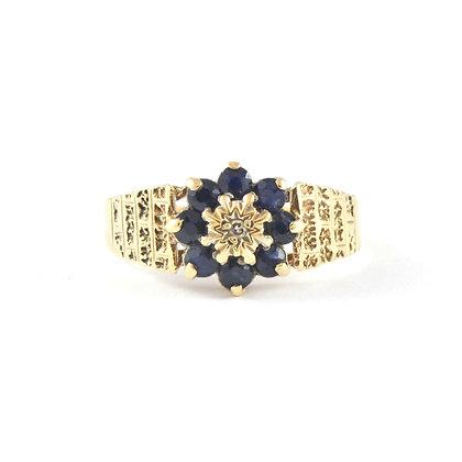 18ct Yellow Diamond (0.02) Sapphire (0.05)