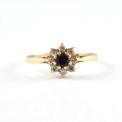 9ct Yellow Cubic Ziconia Sapphire (0.15)