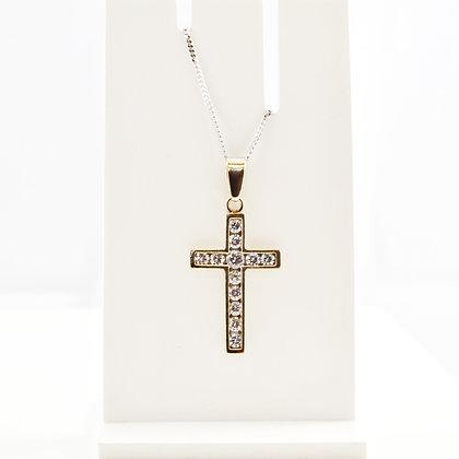 9ct Cubic Ziconia Cross