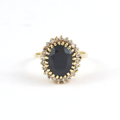 9ct Diamond and Sapphire