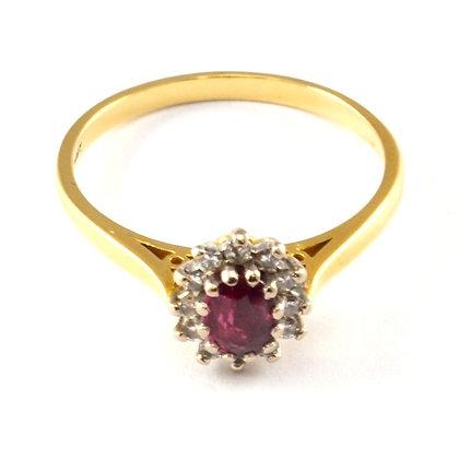 18ct Diamond Ruby