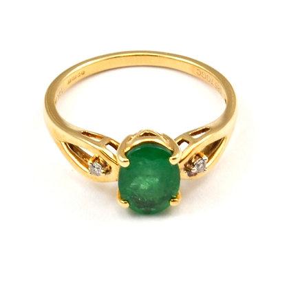 14ct Diamond Emerald (1.25)