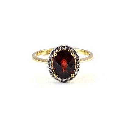 14ct Diamond Garnet