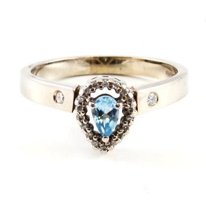 9ct Diamond Aquamarine