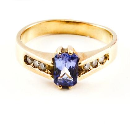 14ct Diamond Tanzanite