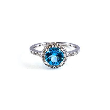 14ct Diamond Topaz