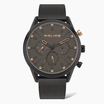 Police Silfra Black Mesh Bracelet