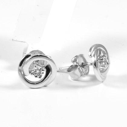 9ct Diamond Swirl Studs