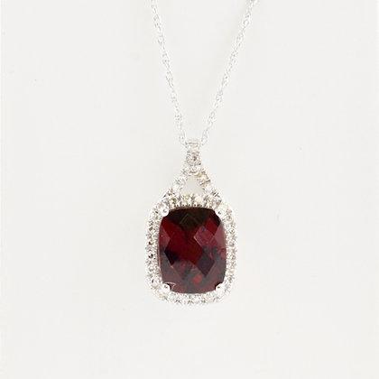 14ct Diamond & Garnet