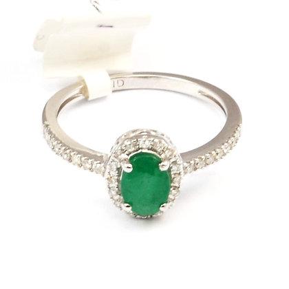 14ct Diamond Emerald