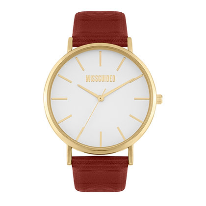 Missguided Gold Red Strap
