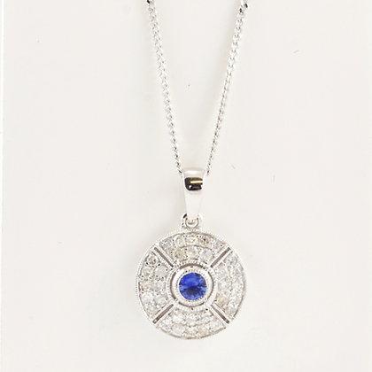 9ct Sapphire Pendant
